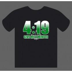 T-Shirt 4:19 Preta tamanho L