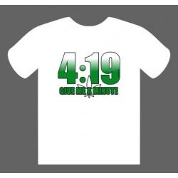 T-Shirt 4:19 Branca tamanho L